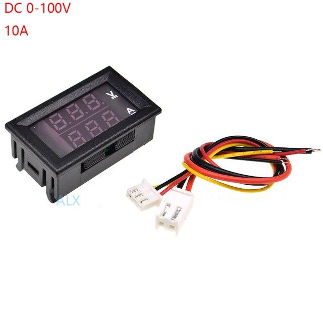 """1 шт. 0,28 """"красный синий светодиодный цифровой вольтметр Амперметр 0,28 дюймов ЖК-дисплей dc 0-100 В 10A DC0-100V Напряжение измеритель тока монитор тестер"""