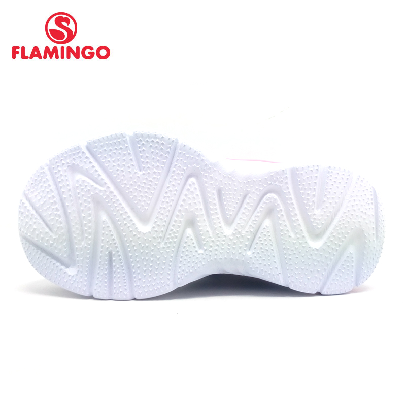 FLAMINGO 2018 orthotics function pig skin insole Hook&Loop breathable Spring girl sneaker separate box free shipping 81K-YC-0603
