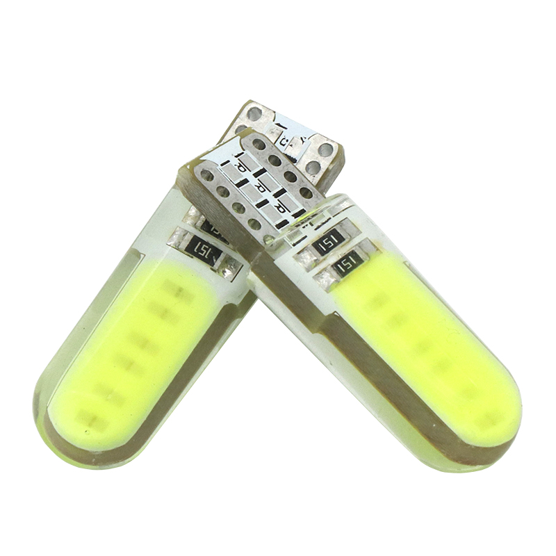 WMMWMD 2PCS T10 W5W LED interior light COB marker lamp 12V 168 194 501 Side Wedge
