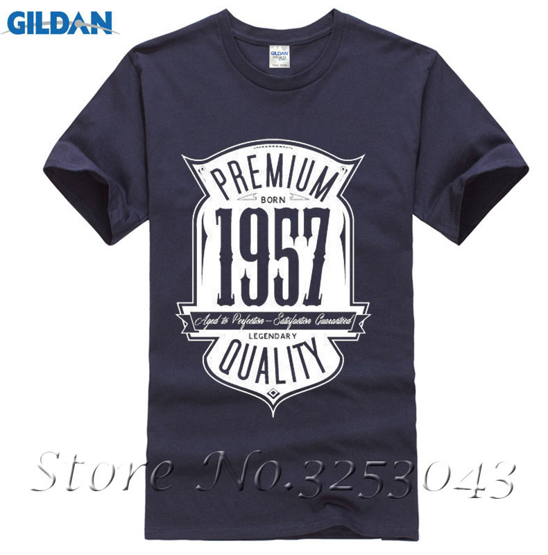 T Shirts Aged To Perfection Born In 1957 60th Birthday Gift Mens Printed Shirt