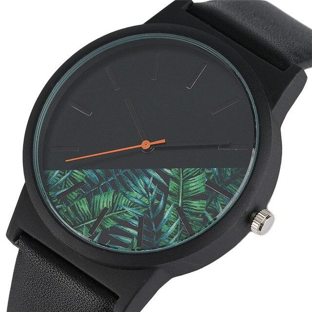 Unieke Unisex Horloges Tropische Jungle Ontwerp Quartz Horloge voor mannen vrouwen Creatieve Casual Sport Klok Uur Gift 2017 nieuwe