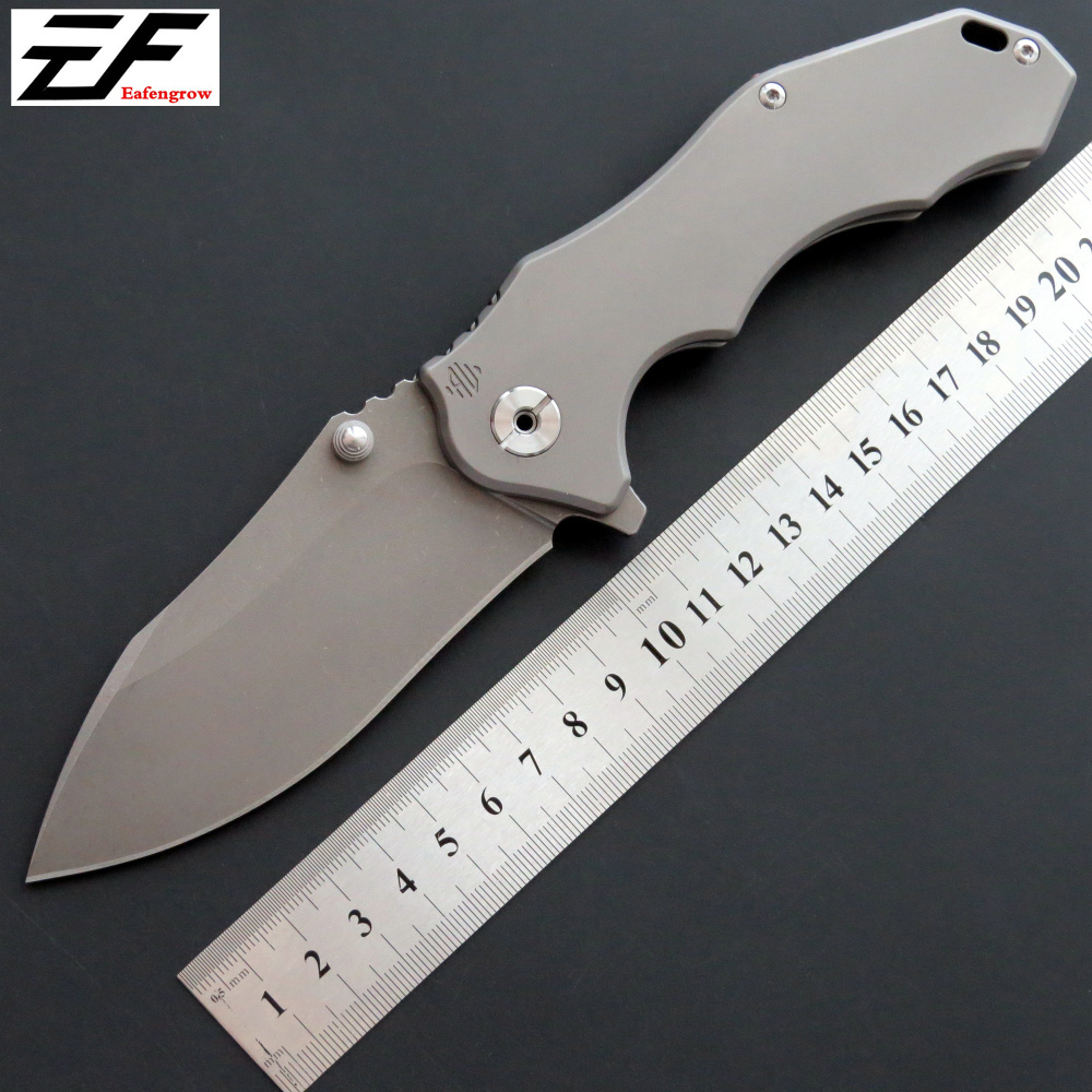 Eafengrow EF905 Folding knife D2 steel blade TC4 handle survivcal  tactical Pocket knife outdoor camping hunting EDC tool knifeEafengrow EF905 Folding knife D2 steel blade TC4 handle survivcal  tactical Pocket knife outdoor camping hunting EDC tool knife