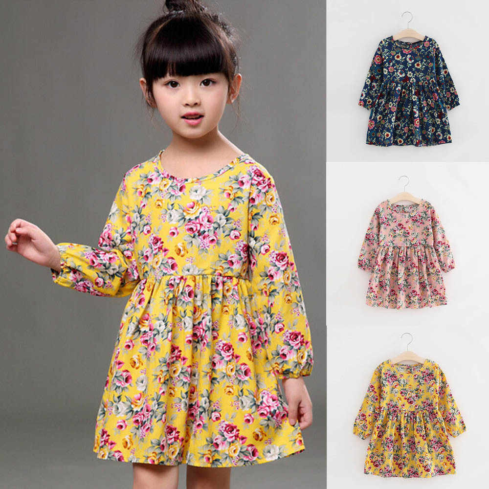 897ce02698799 Telotuny baby girls dress fashion Long Sleeve Princess Party Pageant  Dresses Clothes for girls oct 16