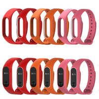 Colorido mi band 2 Correa reloj inteligente silicona de alta calidad doble color muñequera cómoda correa para xiaomi mi band 2