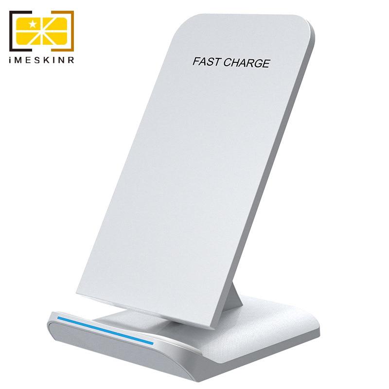 IMESKIN QI Sans Fil Chargeur Pour Samsung S9 S8 Plus Galaxy Note 8 S7 S6 Bord De Charge 10 W Charge Rapide Pour iPhone 8 X Plus