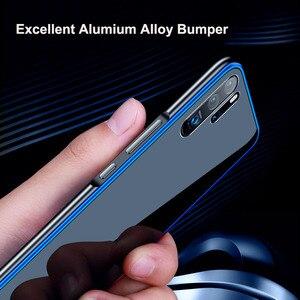 Image 3 - Leanonus מתכת פגוש מקרה עבור Huawei P30 P20 פרו Mate 20 פרו 9 שעתי מזג זכוכית כיסוי נגד לדפוק alumium מסגרת זכוכית טלפון מקרה