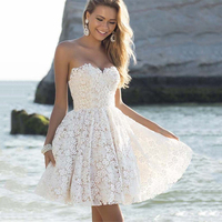 Junnior Summer Sexy Off Shoulder White Dress Women 2019 Lace Mini Dresses Female Solid V neck Dress Ladies Elegant Vestido Femme