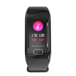 Image 3 - Nouvelle montre intelligente moniteur de fréquence cardiaque bracelet pression artérielle sommeil Fitness Tracker Smartwatch hommes Sport montre pour ios android