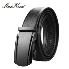 Maikun Designer PU Leather Belts for Men High Quality Luxury Brand Automatic Ratchet Buckle Belt Jeans 110cm-130cm Length