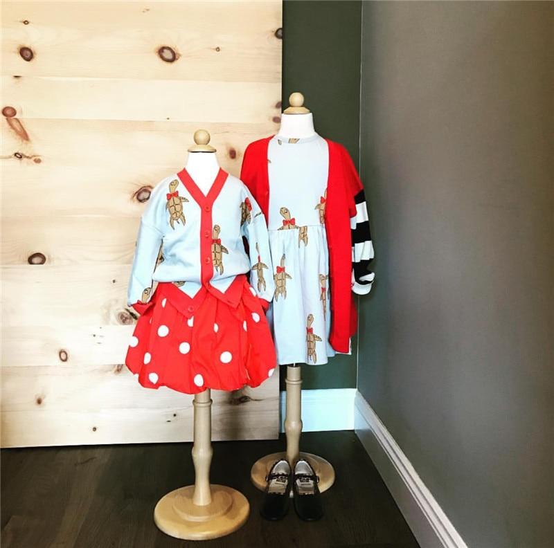 BOBOZONE 2018 Sea Turtles Print Sweatshirt dress Cardigan Sweatshirt Pants Tee for kids baby Sprint Summer clothes цена 2017