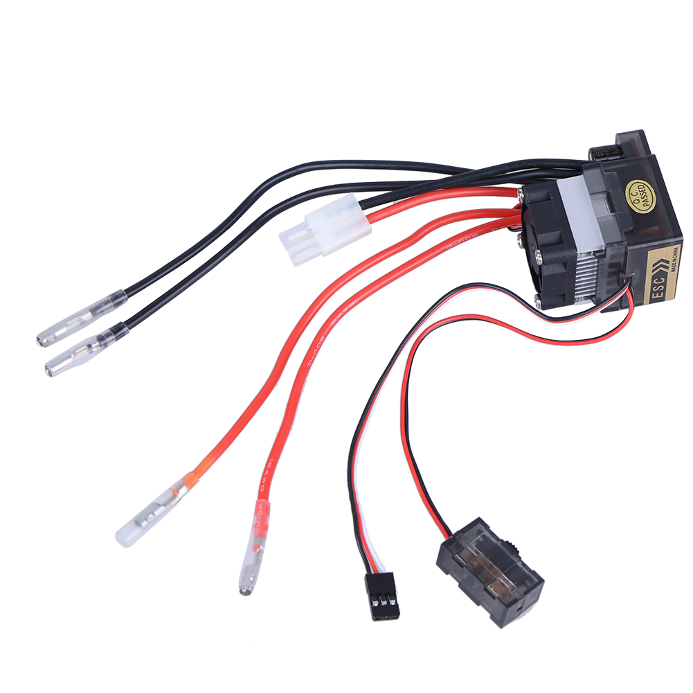 320A 7.2V-16V High Voltage Version Waterproof ESC Brushed Electric Speed Controller for RC Car Truck Boat Models 320a waterproof rc boat esc eletric speed controller for rc crawler car boat regulator spare parts 7 2 16v with fan two motors