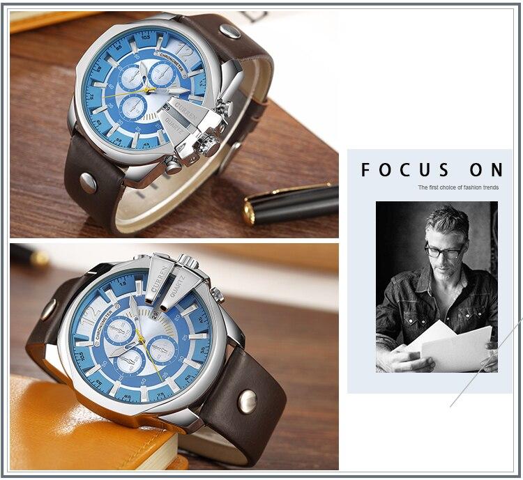 18 Style Fashion Watches Super Man Luxury Brand CURREN Watches Men Women Men's Watch Retro Quartz Relogio Masculion For Gift 14