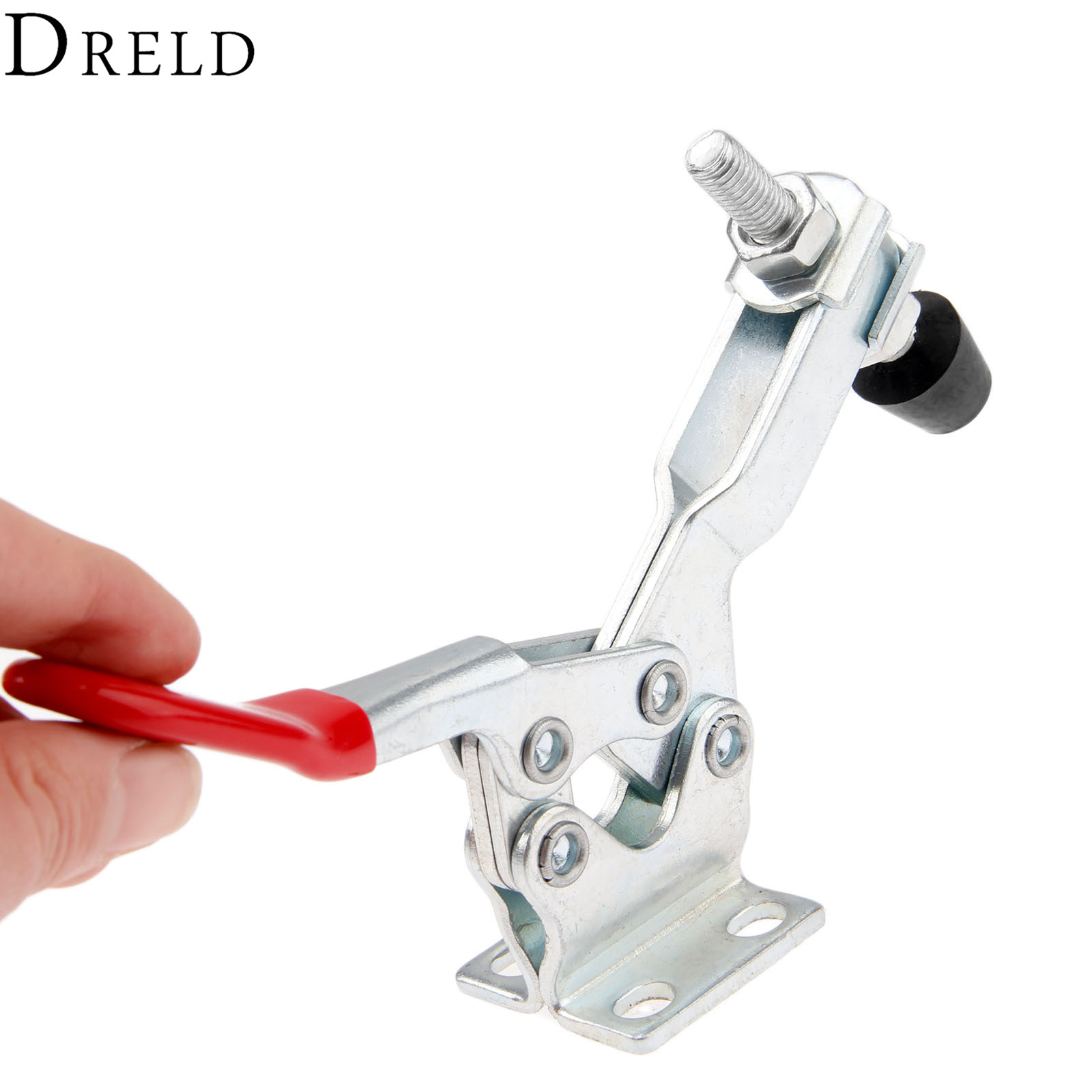 DRELD 1pc GH-225-D Horizontal Toggle Clamp Clip 227Kg 500 Lbs Holding Capacity Quick Release Metal Clamping Toggle Hand Tools