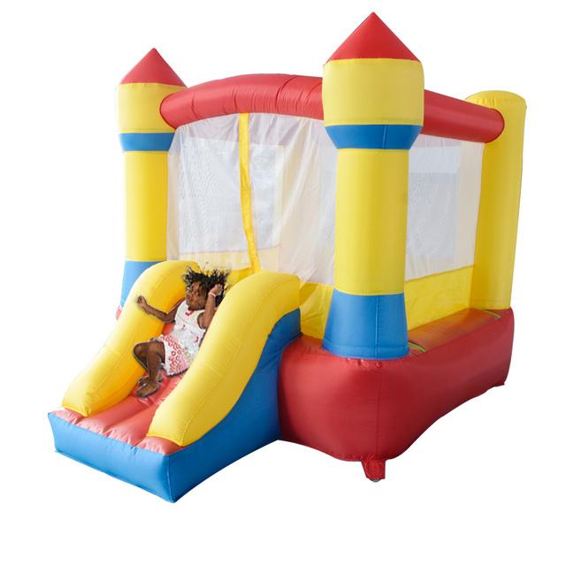 Yard frete grátis casa mini castelo bouncy inflável com slide oferta especial para a ásia