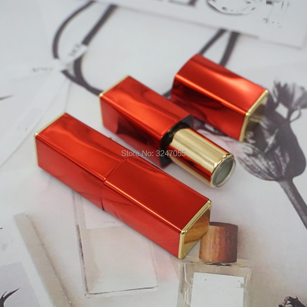 12.1mm 10pcs30pcs50pcs High Class Empty Lipstick Tubes, DIY Magnetic Cosmetic Lip Balm Bottle, Red Elegant Lip Rouge Sub Package цена и фото