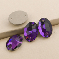 3210 Oval Purple Velvet 7x10 11x16 17x24mm Crystal Rhinestones Applique For Wedding Dress Sew On Rhinestone