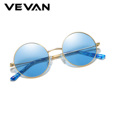 VEVAN Unisex Round Sunglasses Polarized Women Men Sun Glasses Driving UV400 Vintage Women's Sunglasses oculos gafas de sol mujer