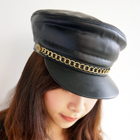New Fashion Sailor Ship Boat Captain Military Hats Peaked Cap Black Baseball Caps Flat Hat For