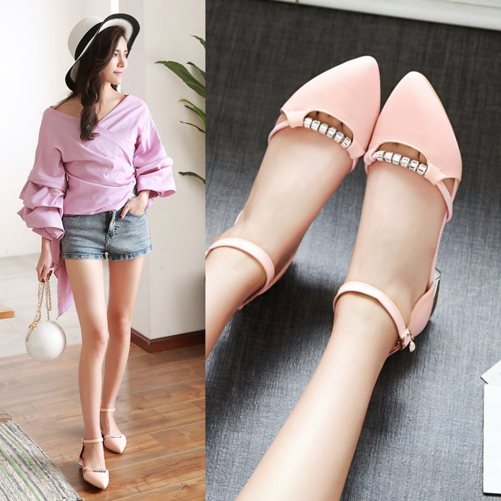 Womens sandals in size 12 - New Women S Sandals 2017 Summer Sexy Low Heeled Shoes College Wind Sweet Lovely
