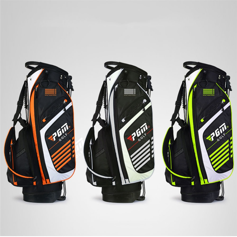 Pgm Portable Golf Stand Bag Golf Bags Men Women Waterproof Golf Club Set Bag With Stand 14 Sockets Outdoor Sport Cover Bag D0069 mizuno aerolite x golf stand bag white royal page 1