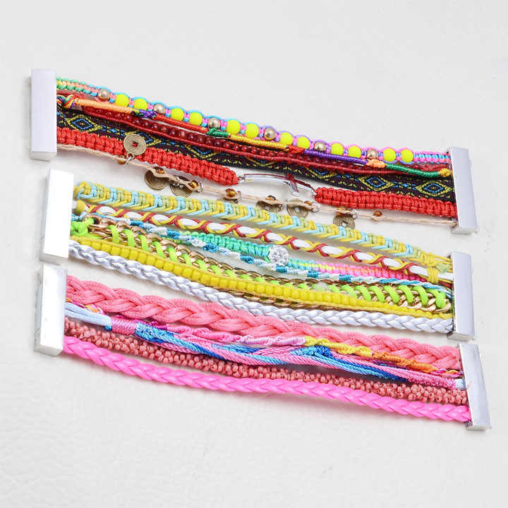 Miasol 2 Pcs/Lot Magnetic Bracelet,Brazilian Magnetic wrap Bracelet, multilayer bracelet magnetic clasp,random mixed 3pcs B51310