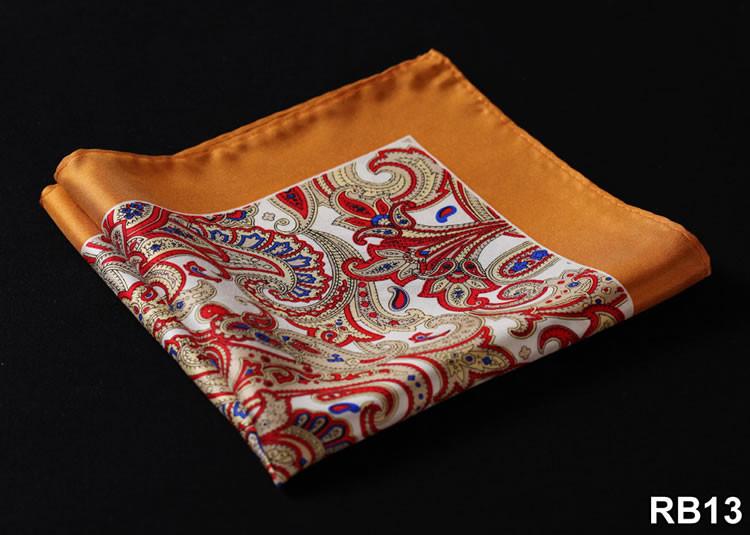 RB13 HN06N Orange Red Paisley 33cm