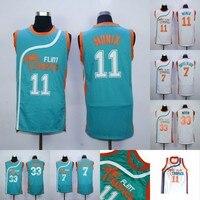 Monix 11 Flint Tropics Jersey 7 Coffee Black 33 Moon Semi Pro Movie Basketball Jerseys Stitched