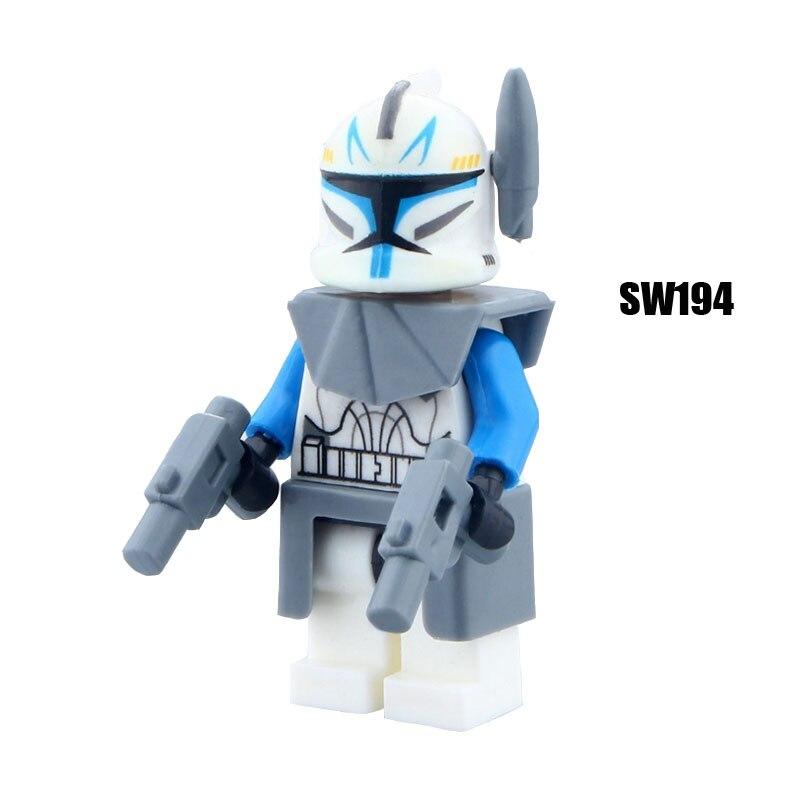 Single Sale Super Heroes Star Wars 194 Captain Rex Model Mini Building Blocks Figure Bricks Toys Gifts Compatible Legoed