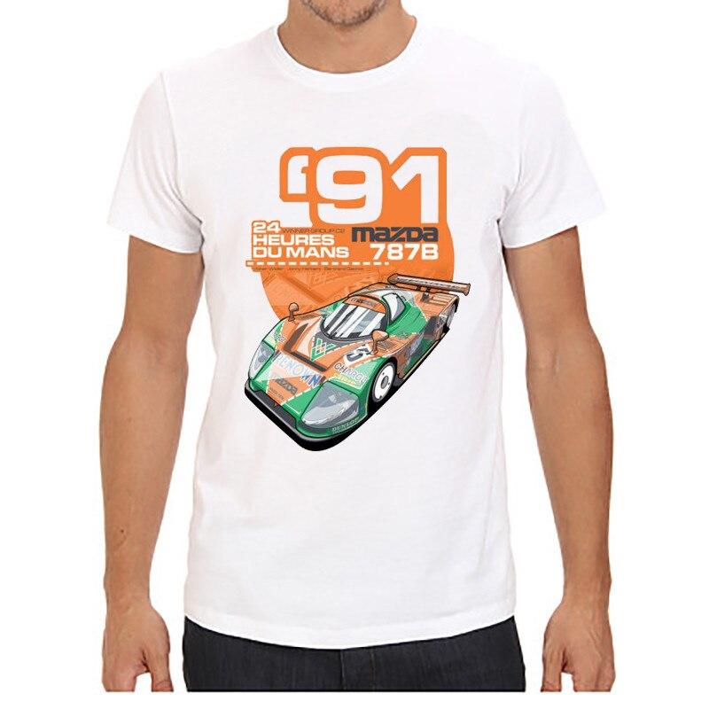 Мужские футболки с коротким рукавом и круглым вырезом, принт с красной машиной, плюс размер, топы, футболки, брендовые, хорошее качество, удобные футболки, топы - Цвет: 4