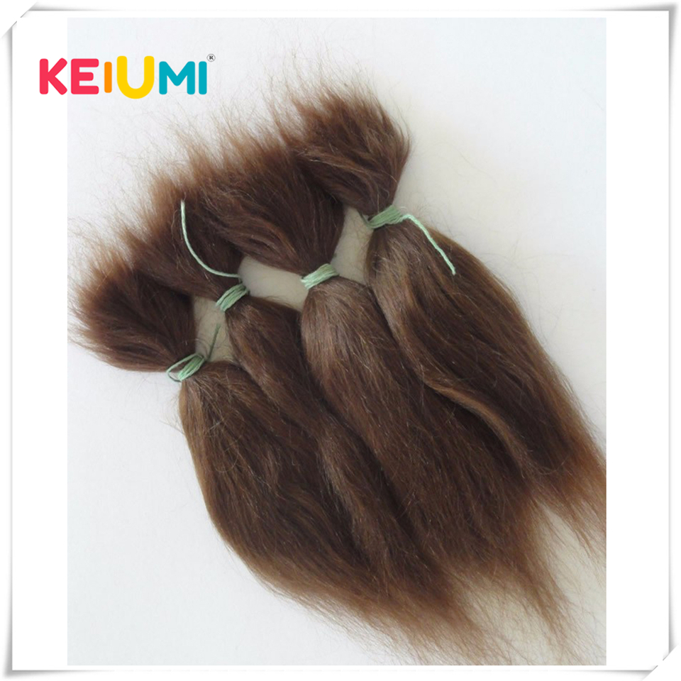15g Brown And Blonde 100% Pure Natural Fashion Mohair Doll Hair 6 Inches For Reborn Baby Dolls Angora Goat Wig Accessories