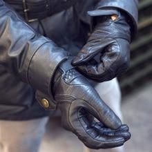 Nuoxintr Ademend Motorfiets Handschoenen Lederen Volledige Vinger Bescherming Motocross Handschoen Downhill Fietsen Paardrijden Racing Moto Handschoenen