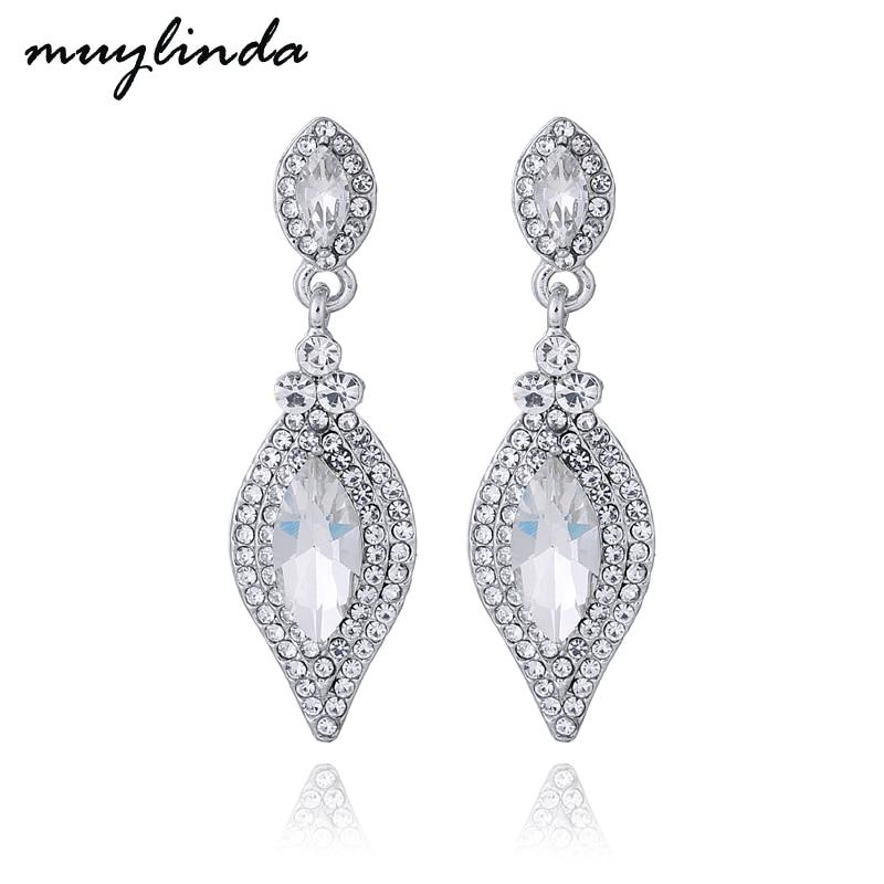 Muylinda Crystal Dangle Earrings Bridal Drop Rhinestone Earring Jewelry Wedding Statement Earing Accessories For Women