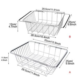 Image 2 - ステンレス鋼野菜ラック調整可能なシンクフルーツ収納ホルダー皿ホーム主催乾燥キッチン機能バスケット