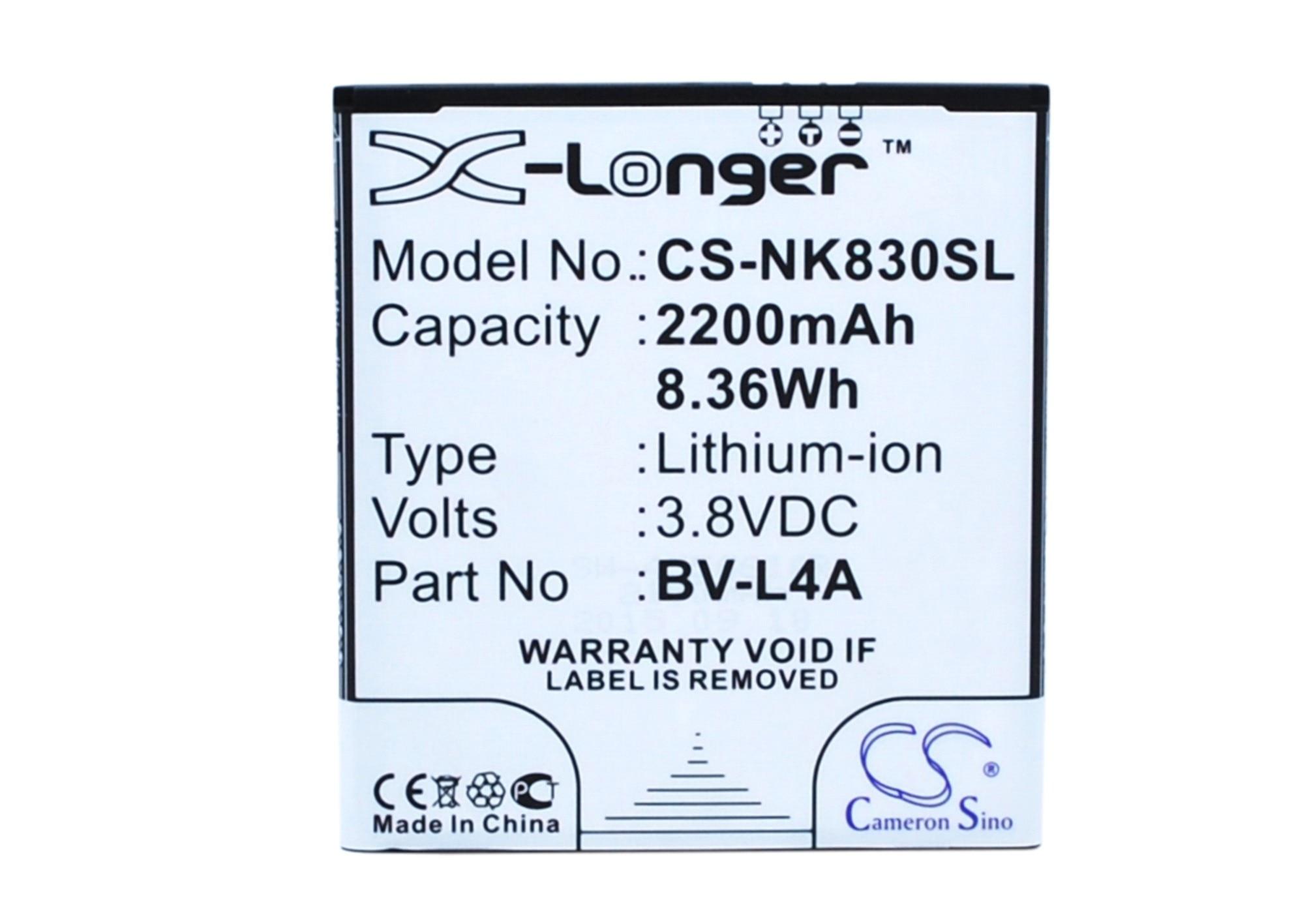 Cameron Sino High Quality 2200mAh Battery BV L4A for Nokia RM 1141  Tesla  For Microsoft Lumia 540  Lumia 540 Dual SIM Lumia 830|Digital Batteries| |  - title=