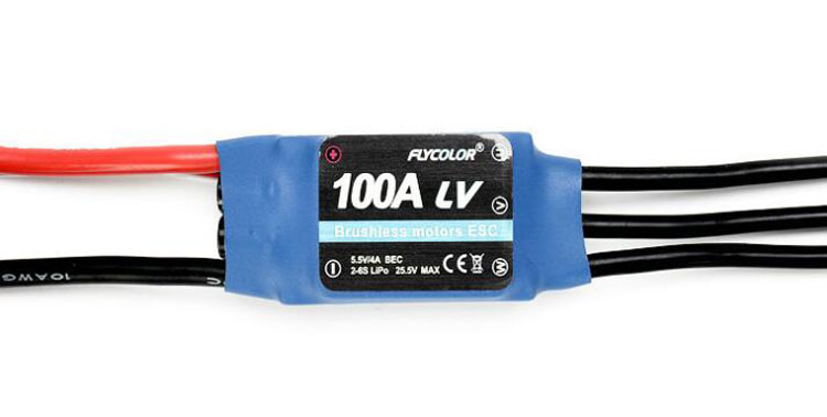 Yuenhoang Flycolor 100A ESC RC Models Brushless ESC 2-6S BEC 5.5V/4A Helicopter Accessories Electronic Speed Controller mystery bec esc for brushless motors 2601 60a fm60a 6 12v