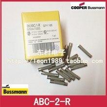 цена на [SA]United States BUSSMANN Fuses BUSS FUSE ABC-2-A 2A 250V 6.4 * 31.7mm fast break--50pcs/lot