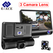 Cheap price E-ACE Car Dvr 3 Camara Lens With Rear View 4.0 Inch Dash Cam Video Recorder 170 Degree Night Vision Camcorder Registrar
