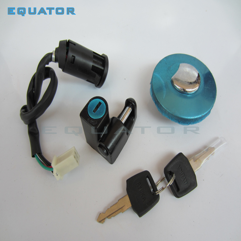 Motorcycle parts <font><b>Monkey</b></font> Bike4 Wire Ignition Switch fuel tank Cap Lock key Kits For <font><b>Monkey</b></font> <font><b>Bike</b></font> <font><b>Z50</b></font> <font><b>Z50</b></font> Motorbike image