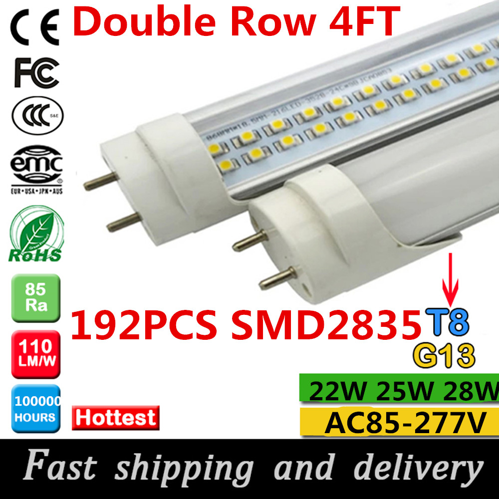 200pcs Free Shipping Smd2835 18w 1800mm Led Tube Light Fluorescent 2014 Hot Circuit 4ft Diagram Double Row T8 1200mm 22w 25w 28w Super Bright
