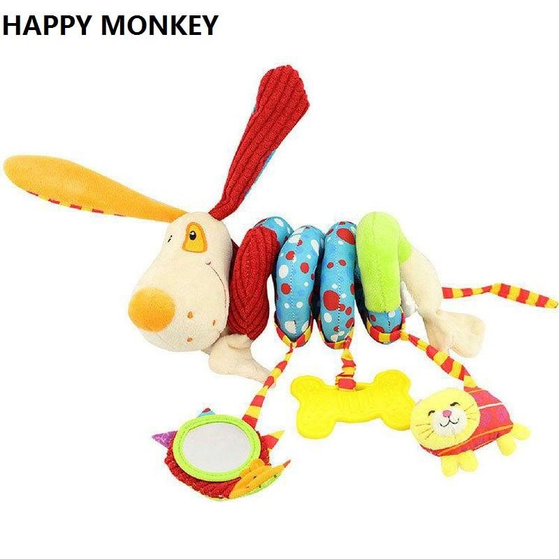 Soft Crib Toys : Happy monkey newborn soft plush toys baby crib hanging