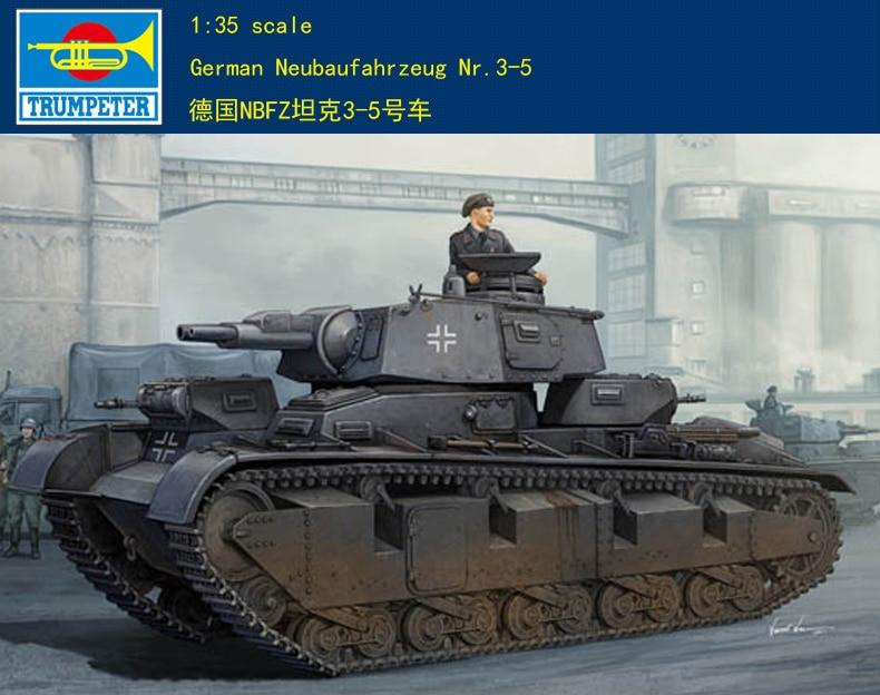 Trumpet  05529 1:35 German NBFZ tank 3-5.  Assembly modelTrumpet  05529 1:35 German NBFZ tank 3-5.  Assembly model