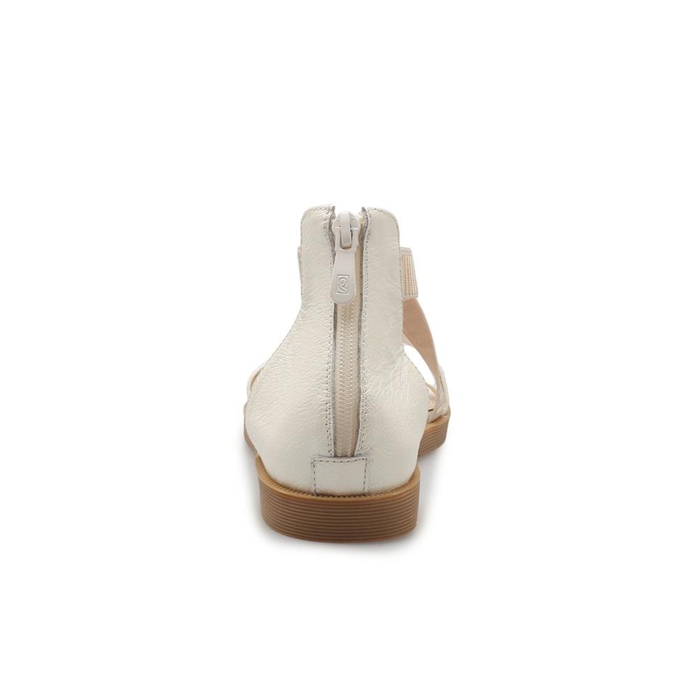 Zipper Donna 2018 Beige in scarpe Black vera Fashion Sport Nuove Sandali tacco Asumer pelle Zeppe a basso Donna Oro Nero Bianco Confortevole w70t5x