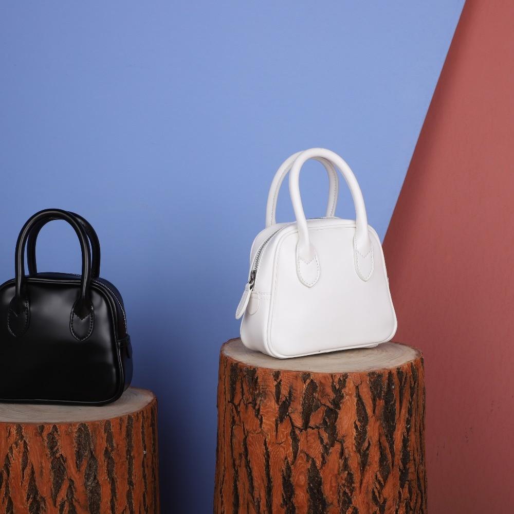 Mini Noir À Messager Décontracté Mode De En Femmes Nouveau blanc Sac Cuir Main Coquille Zwq8qI7a
