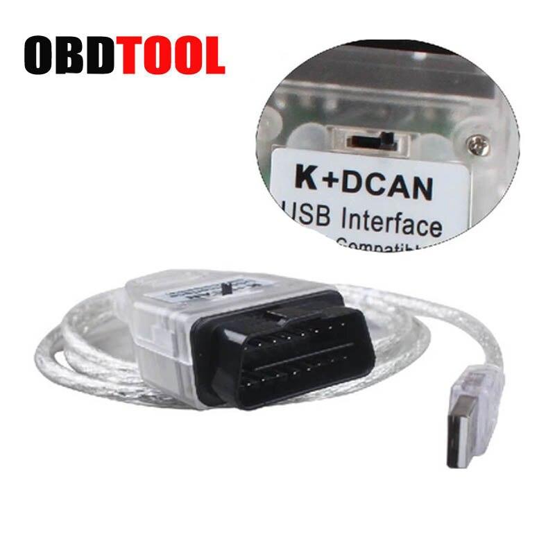 Avec Interrupteur INPA K DCAN Câble De Diagnostic INPA K + DCAN USB OBD2 Interface pour BMW Véhicule De 1998 À 2008 De Voiture Scanner JC5