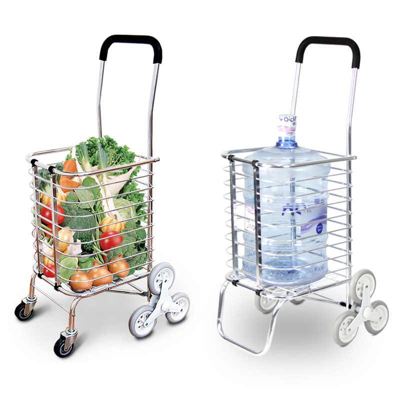 544d43e50ab7 Climbing shopping cart folding shopping cart small cart supermarket ...