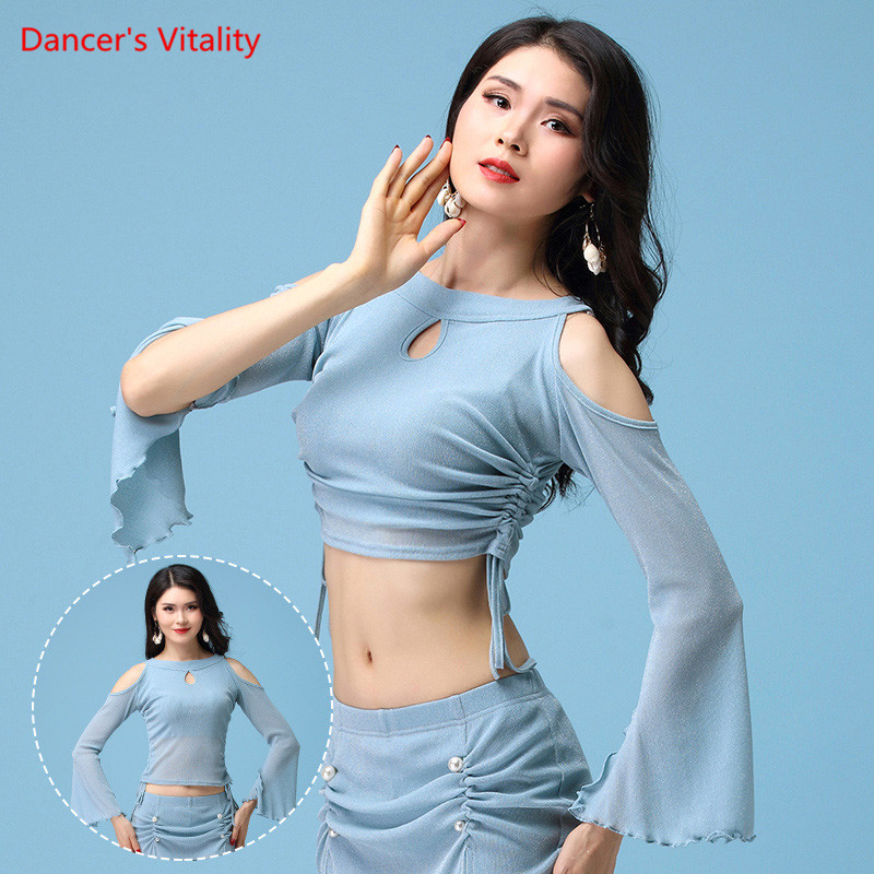 New Belly Dance Clothes Suit Autumn Winter Dance Skirt  Long Split Sleeve Top Skirt Girls Sexy Costumes ,M,L,XL,Free Shipping
