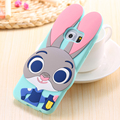 KISSCASE For Samsung Galaxy S5 S6 S7 Edge Case Ripndipp 3D Cute Zootopia Animal Cartoon Rabbit Judy Soft Silicone Back Cover