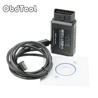 ObdTooL ELM327 WIFI USB OBD2 OBD Scanner Diagnostic Tool High Quality ELM 327 V1.5 Wifi OBD ii code reader Android /for IOS