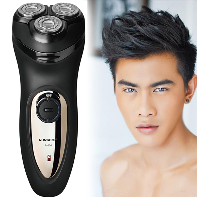 Runwe Men's Large Power 3D Floating Head Rechargeable Electric Shavers for Men Razor Barbeador Rasoir Electrique RS926 hot sale novelty office tea coffee cup gun rose pattern color changing ceramic mug