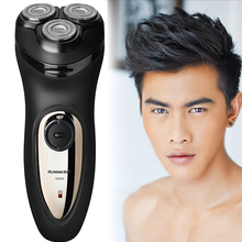 Runwe Men's Large Power 3D Floating Head Rechargeable Electric Shavers for Men Razor Barbeador Rasoir Electrique RS926